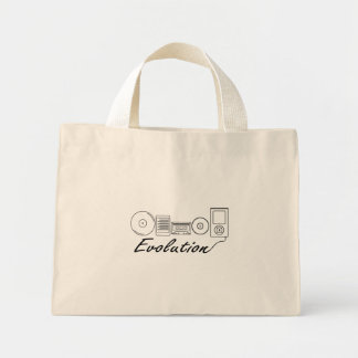 Evolution of Music Mini Tote Bag