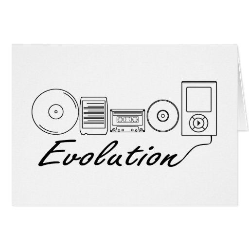 Evolution of Music Greeting Card