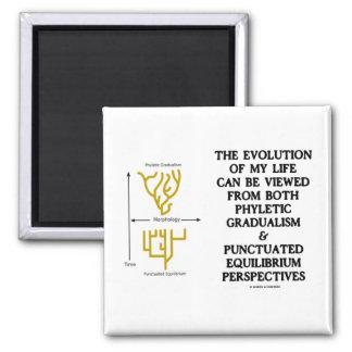Evolution Of My Life Phyltc Grdlism Punctd Equlbra 2 Inch Square Magnet