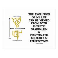 Evolution Of My Life Phyltc Grdlism Punctd Equlbra Postcard