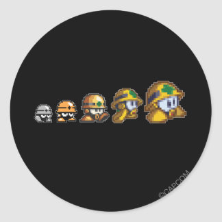 Evolution of Neo-metol Classic Round Sticker