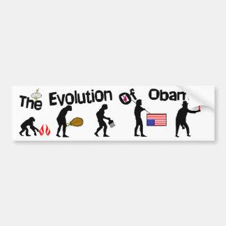 Evolution Of Obama! Bumper Sticker