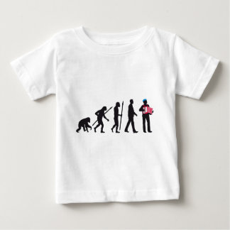 evolution OF one accordion more player sailor Baby T-Shirt