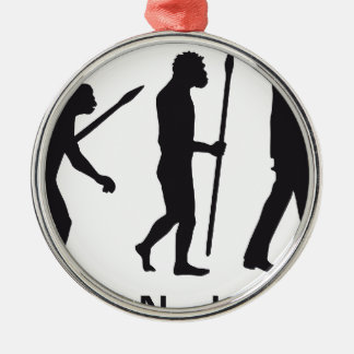 evolution OF one basketball more player Metal Ornament