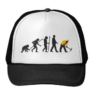 evolution OF one building more worker Trucker Hat