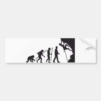 evolution OF one climbing Bumper Sticker