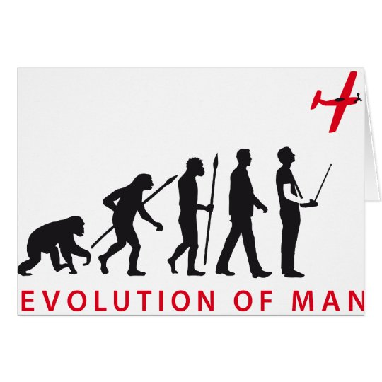 evolution OF one controling model airplane Card