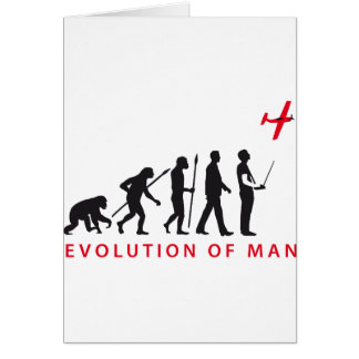 evolution OF one controling model airplane Greeting Card
