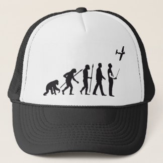 evolution OF one controling model airplane Trucker Hat