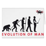 evolution OF one controlling drone Greeting Cards