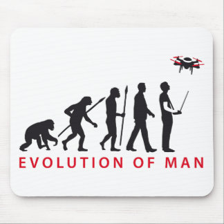 evolution OF one controlling drone Mouse Pad