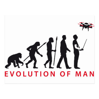 evolution OF one controlling drone Postcard