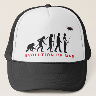 evolution OF one controlling drone Trucker Hat