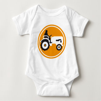 evolution OF one far MER with tractor Baby Bodysuit