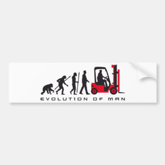 evolution OF one forklift more driver Bumper Sticker