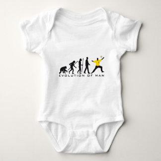 evolution OF one hand ball goal more keeper Baby Bodysuit