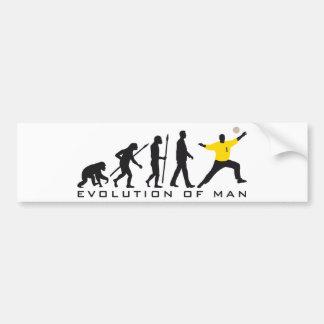 evolution OF one hand ball goal more keeper Bumper Sticker