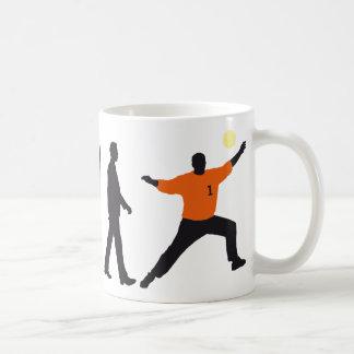 evolution OF one hand ball goal more keeper Coffee Mug