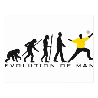 evolution OF one hand ball goal more keeper Postcard