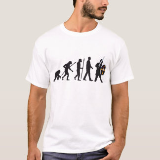 evolution OF one knight with sword and shield T-Shirt
