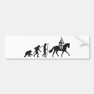 Evolution OF one knight with sword on horseback Bumper Sticker