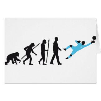 evolution OF one more soccer goal more keeper Card