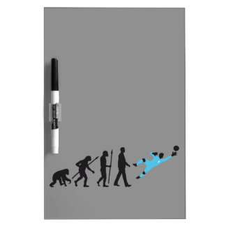 evolution OF one more soccer goal more keeper Dry Erase Board