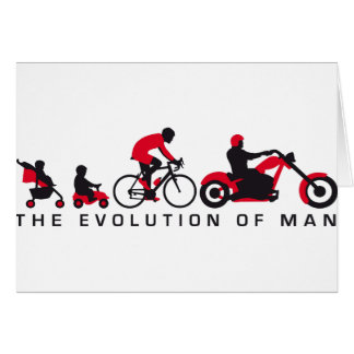 evolution OF one motorcycle more biker Card