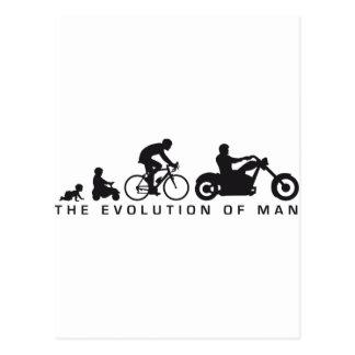 evolution OF one motorcycle more biker Postcards