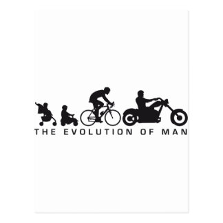 evolution OF one motorcycle more biker Post Card