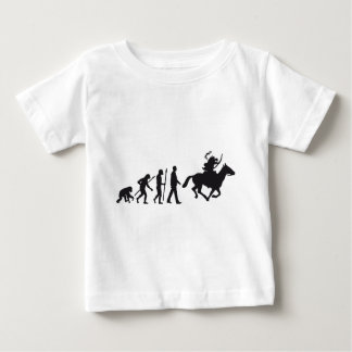 evolution OF one native american on horse with bow Baby T-Shirt