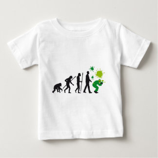 evolution OF one paintball more player Baby T-Shirt