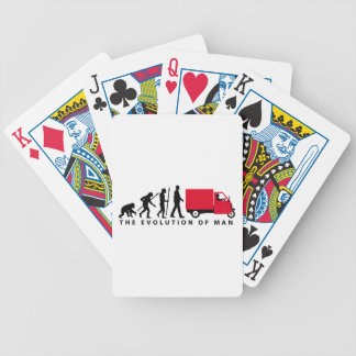 Evolution OF one Piaggio Ape mini transporter Bicycle Playing Cards