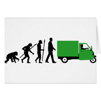 Evolution OF one Piaggio Ape mini transporter Card