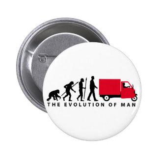 Evolution OF one Piaggio Ape mini transporter Pinback Button