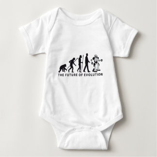 evolution OF one robot Baby Bodysuit