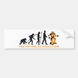 evolution OF one robot Bumper Sticker