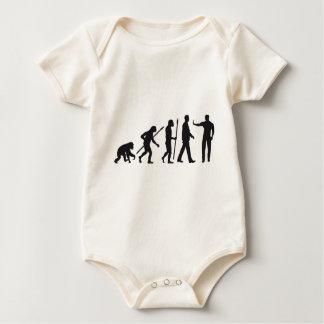evolution OF one security doorman Baby Bodysuit