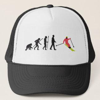 Evolution OF one skiing Trucker Hat
