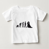 Evolution OF one wedding Baby T-Shirt