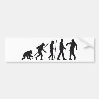 evolution OF one zombie walking DEAD Car Bumper Sticker
