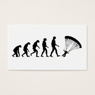 Evolution of Parachuting Business Card