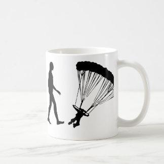 Evolution of Parachuting Coffee Mug