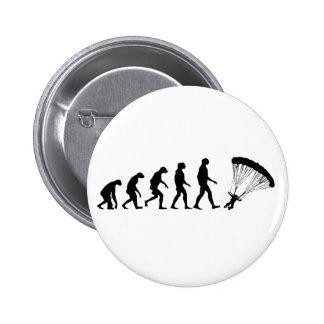 Evolution of Parachuting Pinback Button