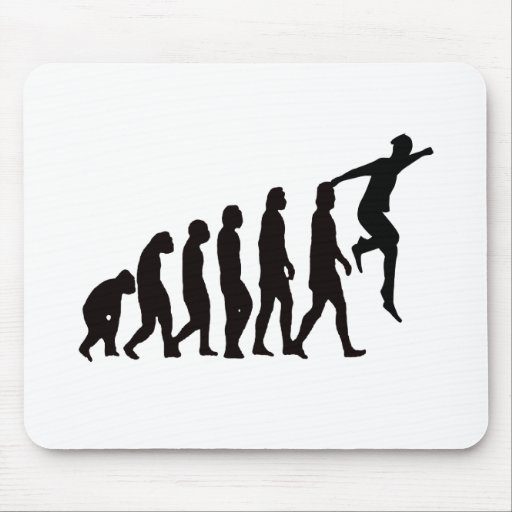 Evolution of Parkour (Free Running) Mouse Pad