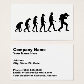 Evolution of Photography 2 Amazing Business Card