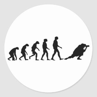Evolution of Photography Classic Round Sticker