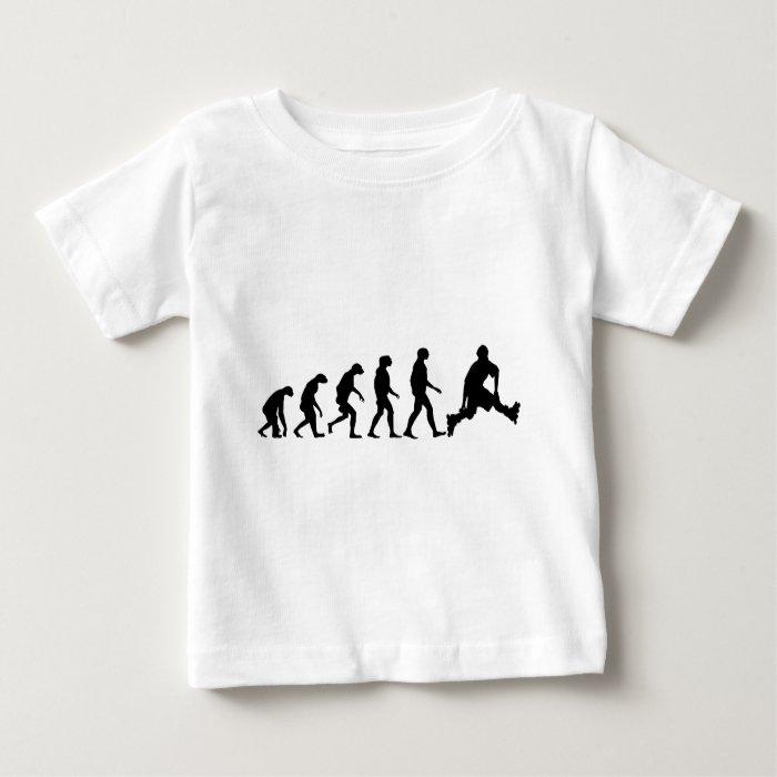 Evolution of Rollerblading Baby T-Shirt