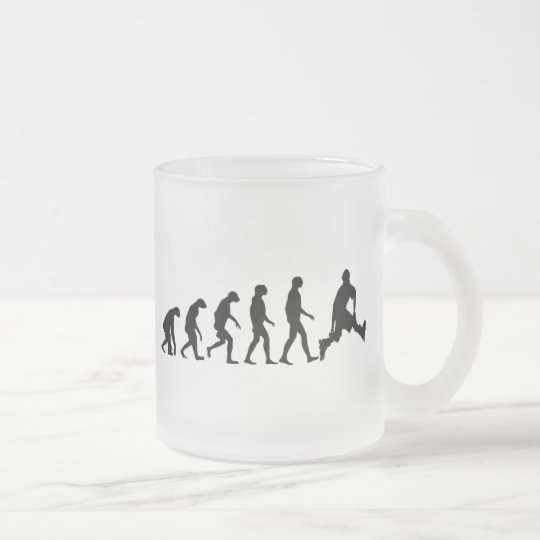 Evolution of Rollerblading Frosted Glass Coffee Mug