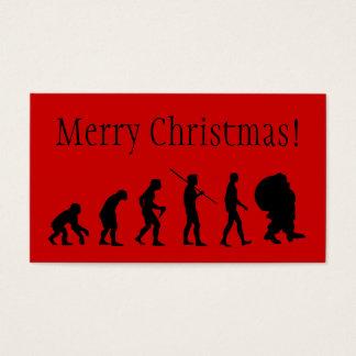 Evolution Of Santa Claus Business Card